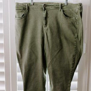 Old Navy Army Green Skinny Jeans